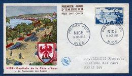 France - FDC - Premier Jour - Nice - Capitale De La Côte D'azur - 1955 - 1950-1959
