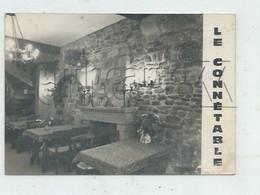 """Dinan (22) : La Salle à Manger De La Crêperie """"Le Connétable"""" Mon Desbonnet En 1950 GF . - Dinan"""