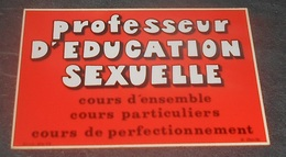 Professeur D'education Sexuelle  : Carte Autocollante - Auto- Collant Dorchy ::  Illustrateurs --------- 540 - Ansichtskarten