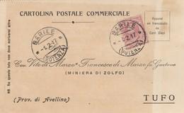 Barile. 1917. Annullo Guller BARILE  * POTENZA *, Su Cartolina Postale Commerciale - 1900-44 Vittorio Emanuele III