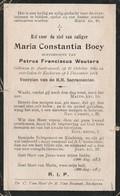 Austruweel, Ekeren, 1914, Maria Boey, Wouters - Images Religieuses