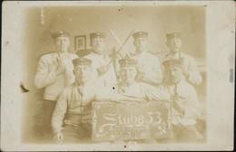 Privatfoto Ak Ansichtskarte  Stube 53, 4 Jäger 4. Baitallon 1912 - Militaria