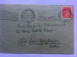 GERMANY 1944 Cover Berlin To Lahr-Dinlingen - `Baurschmidt` - Alemania