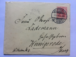 GERMANY 1906 Cover Wilmersdorf To Wernigerode Tied With Germania 10 Pf Rate - Lettres & Documents