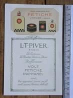 Carte Parfumée - Les Parfumeries L.T. PIVER PARIS - Sur Son Support - Volt Fetiche Printanel - Perfume Cards