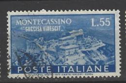 Italia - 1951 - Usato/used - Monte Cassino - Un 665 - Mi 838 - 1946-60: Oblitérés