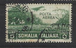 Italia Colonie - Somalia - 1936 - Usato/used - Posta Aerea - Sass N. 25 - Somalia