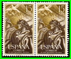 ESPAÑA PAREJA DE SELLOS AÑO 1956  XX ANIVERSARIO DEL ALZAMIENTO NACIONAL - 1951-60 Nuovi