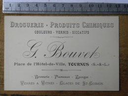 (71) Saône Et Loire - TOURNUS - Carte Commerciale Droguerie BOUVETS, Place De L'hôtel De Ville - France