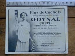 Publicité - Buvard ODYNAL - Pharmacie, Préparateur Chevalier Montmarault (Allier)  - Guérit Toutes Douleurs - Blotters