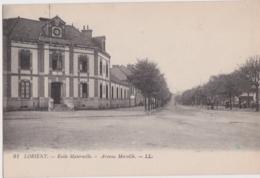 Bv - Les Rares Cpa De LORIENT - Ecole Maternelle - Avenue Merville (vente Sur 7 Jours) - Lorient