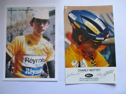 Cyclisme Lot De 2 Photos Coureurs Francais Annees 80 - Cyclisme