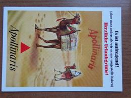 Reclame / Apollinaris (met Kameel) -> Unwritten - Publicité