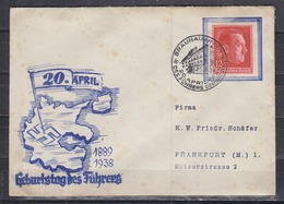 Dt.Reich/Ostmark Propagandaumschlag 20.April 1889/1938 Geburstag Des Führeres EF 664 SSt Braunau Am Inn 20.4.1938 - Covers & Documents