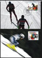 Liechtenstein Maxicard 2018 Pyeongchang Olympic Games - Two Cards   (G105-1A) - Winter 2018: Pyeongchang