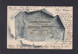 Suisse LU   Luzerner Kantonalbank Tausend Franken ( Representation Billet Ref. 41242 ) - LU Lucerne