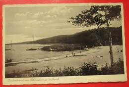 I2- Germany Vintage Postcard-Badestrand Am Schwielowsee In Ferch, Boat, People On Beach - Schwielowsee