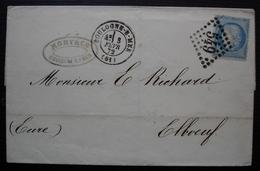 Boulogne Sur Mer 1872 (pas De Calais) Mory & Cie Gc 549 Bien Frappé Dans Losange De Points - 1849-1876: Periodo Clásico