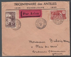 Guadalupe, 1936 Enveloppe Aerienne Pour La France       -CP73 - Guadeloupe (1884-1947)