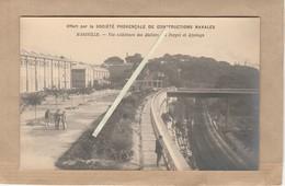 Dept 13 : ( Bouche Du Rhône ) Marseille Société Provence De Constructions Navales, Extérieur Ateliers, Forges, Ajustage. - Autres