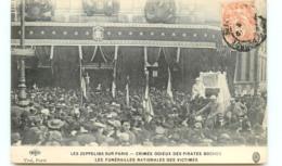 75* PARIS  Zeppelins - Funerailles - France