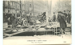 75* PARIS  Orage 15 Juin  Plac St Augustin - France
