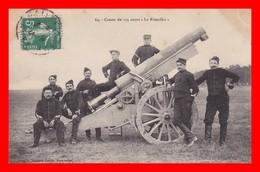 "CPA MILITARIA.  Canon De 155 Court "" Le Rimailho"", Animé...C340 - Equipment"