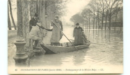 75* PARIS   Inondations - Mission Belge - Inondations De 1910