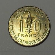 1984 - Afrique De L'Ouest - West African States - 10 FRANCS, BCEAO, F.A.O., KM 10 - Monete