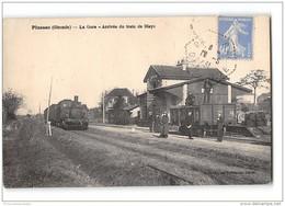 CPA 33 Plassac La Gare Et Le Train Tramway Ligne De St André St Ciers - France