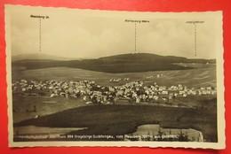 I2- Germany Vintage Postcard- Handschuhstadt Abertham 884 Erzgebirge Sudetengau,Vom Plesberg 1027 Aus Gesehn. - Sudeten
