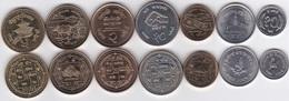 Nepal - Set 7 Coins 1994 - 2009 UNC Lemberg-Zp - Nepal