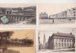 27729 Lot 8 Cpa ARRAS Marché Place Vacquerie Chateau Baudimont Desruelles Porte Monument Morts Grand' Palais - Arras