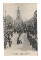 CPA 62 LENS Obsèques Du Lieutenant LAUTOUR Du 5° Dragons De COMPIEGNE Le 20 Avril 1906 Le Cortège Sortant De L'Eglise - Lens