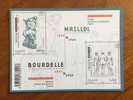 BLOC FEUILLET SCULPTURES DE BOURDELLE ET MAILLOL Y&T F4626 - 2011 - Neuf ** - Blocs & Feuillets