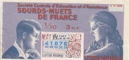 """Loterie Nationale """"Sourds-muets De France"""" - Biglietti Della Lotteria"""