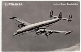 AVIAZIONE - AEREI - LUFTHANSA - LOCKEED SUPER CONSTELLATION - 1959 - Vedi Retro - Formato Piccolo - 1946-....: Era Moderna