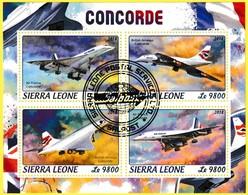 Bloc Feuillet Oblitéré - Air France Concorde British Airways Concorde - Sierra Leone 2018 - Sierra Leone (1961-...)