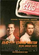 Cinema - Affiche De Film - Fight Club - Brad Pitt - Edward Morton - Voir Scans Recto-Verso - Affiches Sur Carte