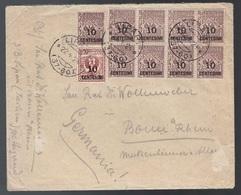 Regno, Busta Per La Germania Del 1924 Con Affrancatura Non Comune    -CP43 - Marcofilía