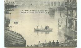 75* PARIS -  Crue - Gare St Lazare - Inondations De 1910
