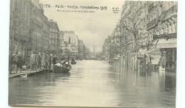 75* PARIS -  Crue Rue De Lyon - Inondations De 1910