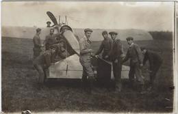 76     Forges Les Eaux Carte Photo  Aeroplane En Reparation  05 Aout 1912 Aviation - Forges Les Eaux
