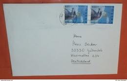 POLEN 3472 (senkr. Paar) Adler - Kopf - Krone - Unabhängigkeit -- Wroclaw ....1995 -- Brief Cover (2 Foto)(37699) - 1944-.... République