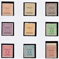 OCCUPAZIONE ANGLO-AMERICANA  1943  SICILIA  SERIE CPL MNH SASSONE S.1 - Anglo-american Occ.: Sicily