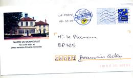 Pap Logo Bleu Flamme Chiffree Illustré Mairie Monneville - Biglietto Postale