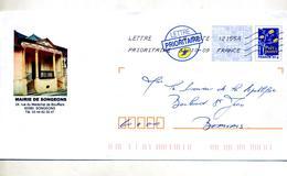 Pap Logo Bleu Flamme Chiffree Illustré Mairie Songeons - Biglietto Postale