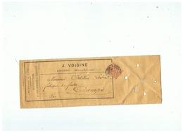 LETTRE  J . VOISINE  CHANVRES & LIN FICELLES ET CORDAGES à ANGERS ( M & L ) Pour CAMPS ( VAR )  1901 - Marcophilie (Lettres)