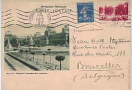Paris Louvre - Ganzsache Le Grand Lac Du Bois - Säerin 1937 - France