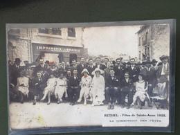 RETHEL-Fêtes De Sainte Anne 1925-La Commission Des Fêtes- Photographie - Rethel